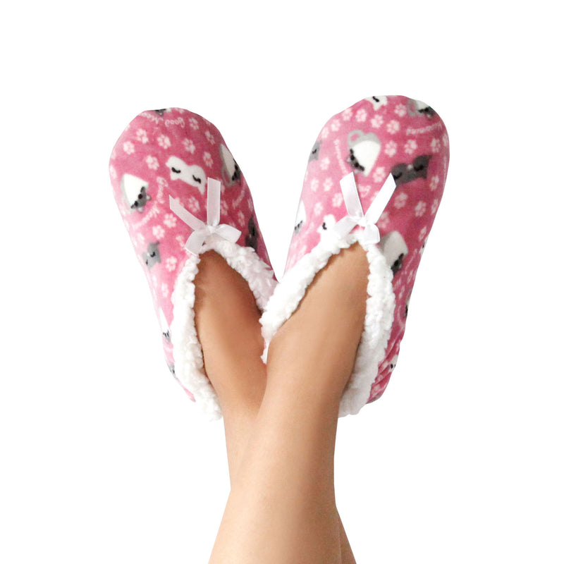 "Women's Good ""Meowrning"" Slipper Socks"