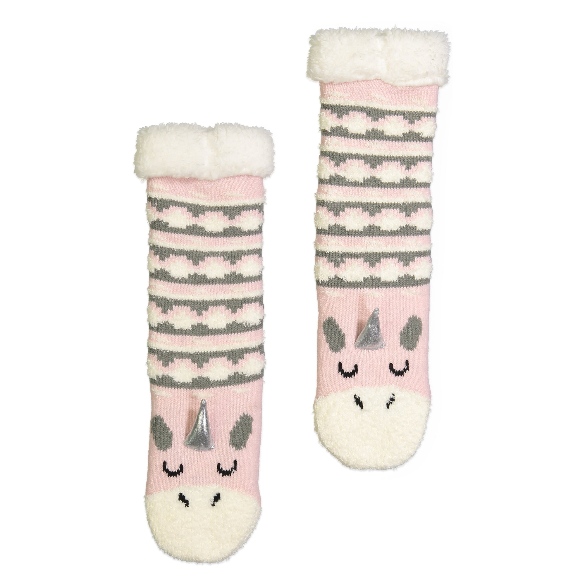 Girls Unicorn Cozy Warmer™ Slipper Sock with Sherpa Lining