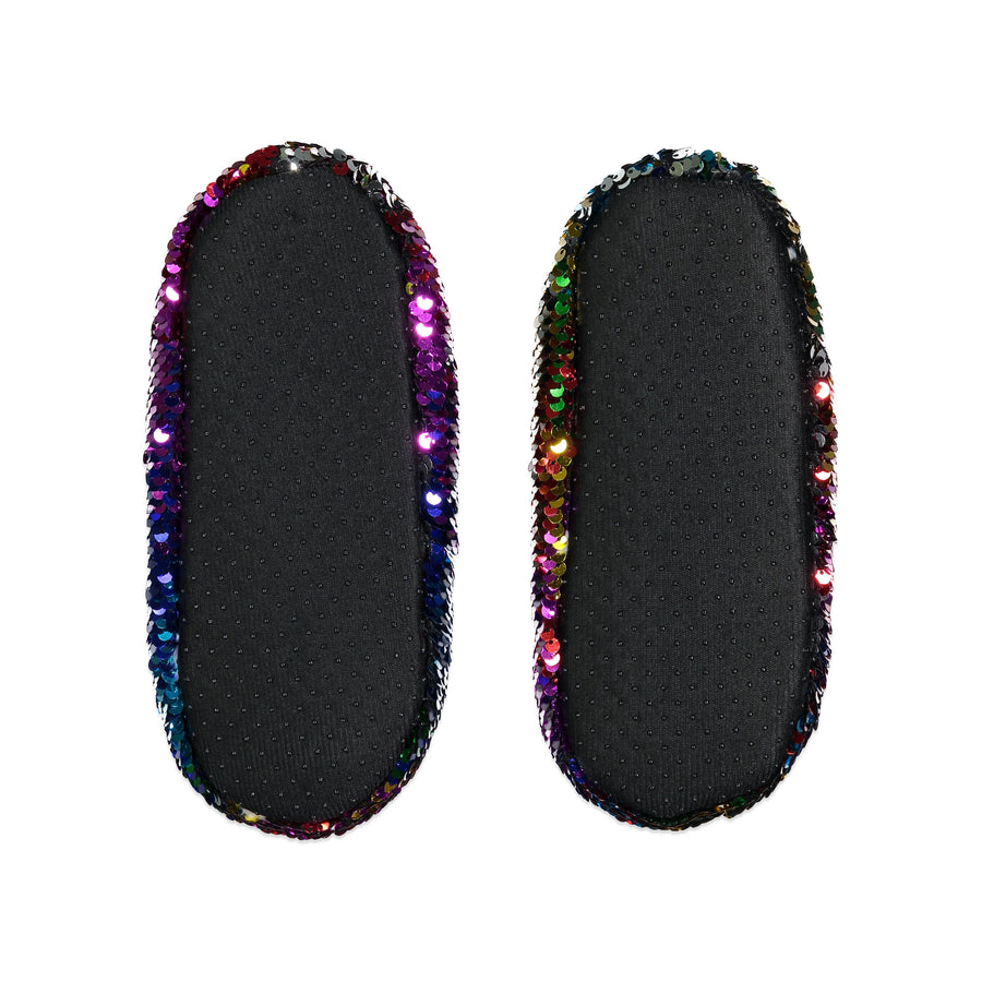 Kids Bright Sequin Slipper Sock