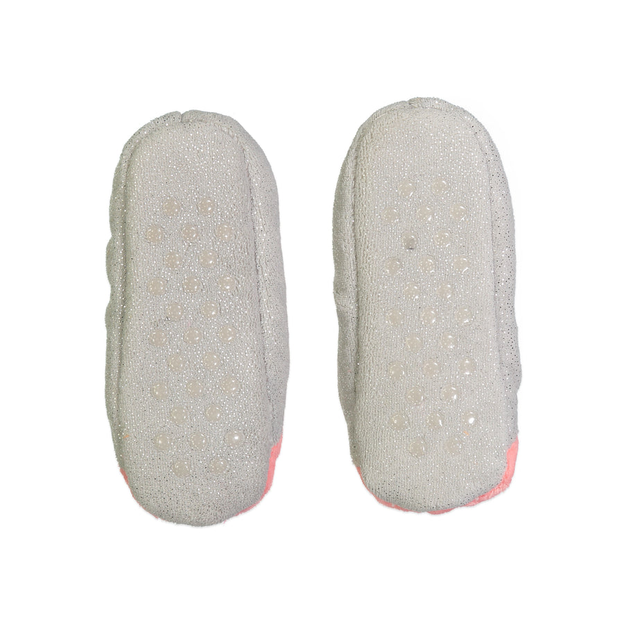 Girls Puffy Fox Face 3D Slipper Sock