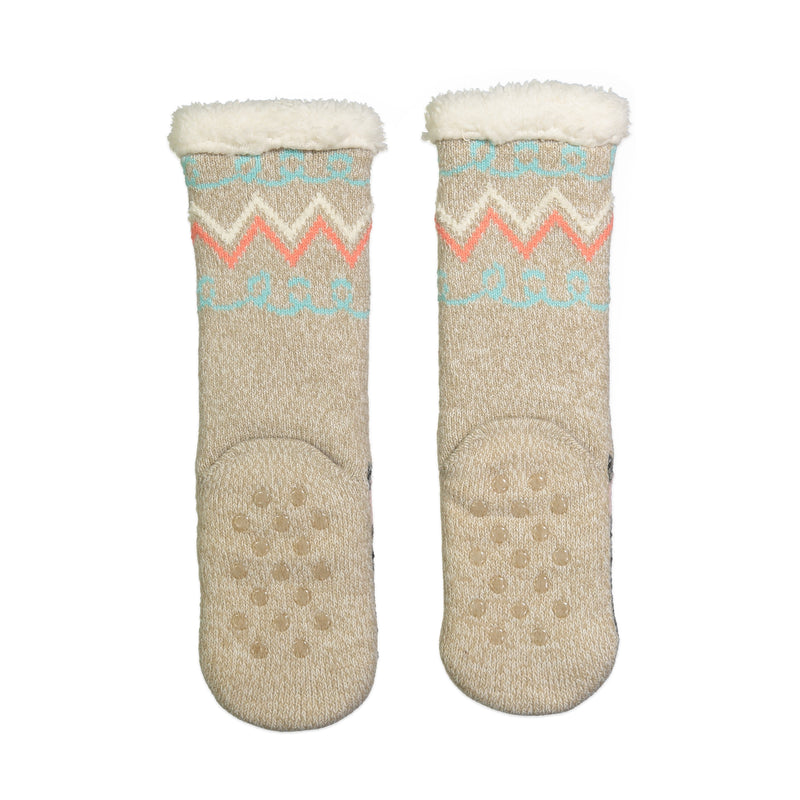 Kids Scotty Dog Slipper Sock with Sherpa Lining - Fuzzy Babba