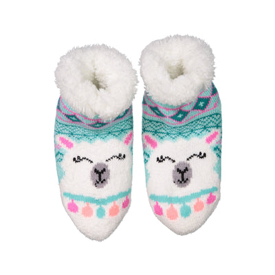 Kids Cozy Llama Slipper Socks with Sherpa Lining