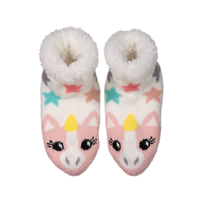 Kids Cozy Unicorn Slipper Socks with Sherpa Lining