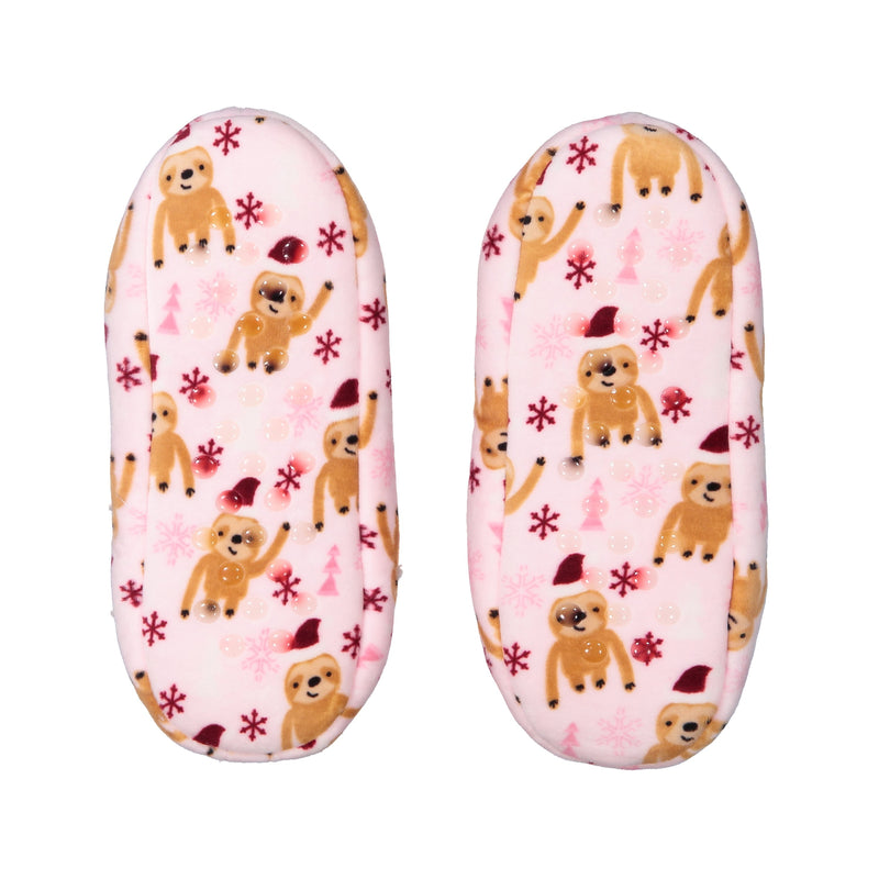 Kids Sloth Print Stretchy Holiday Slipper Socks