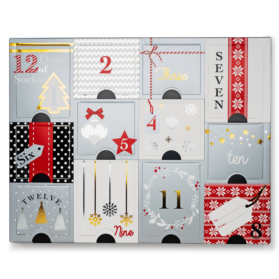 Women's 12 Days of Socks Gift Set
