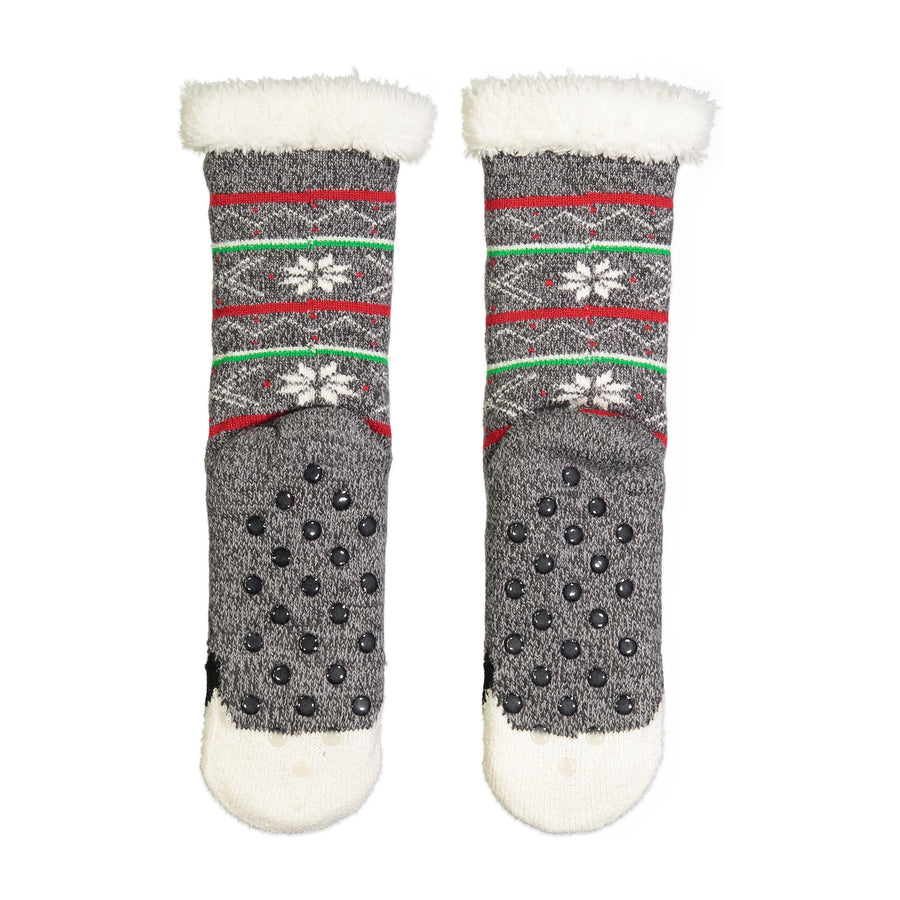 Women's Penguin Slipper Sock with Sherpa Lining
