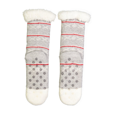 Women's Polar Bear Slipper Sock with Sherpa Lining