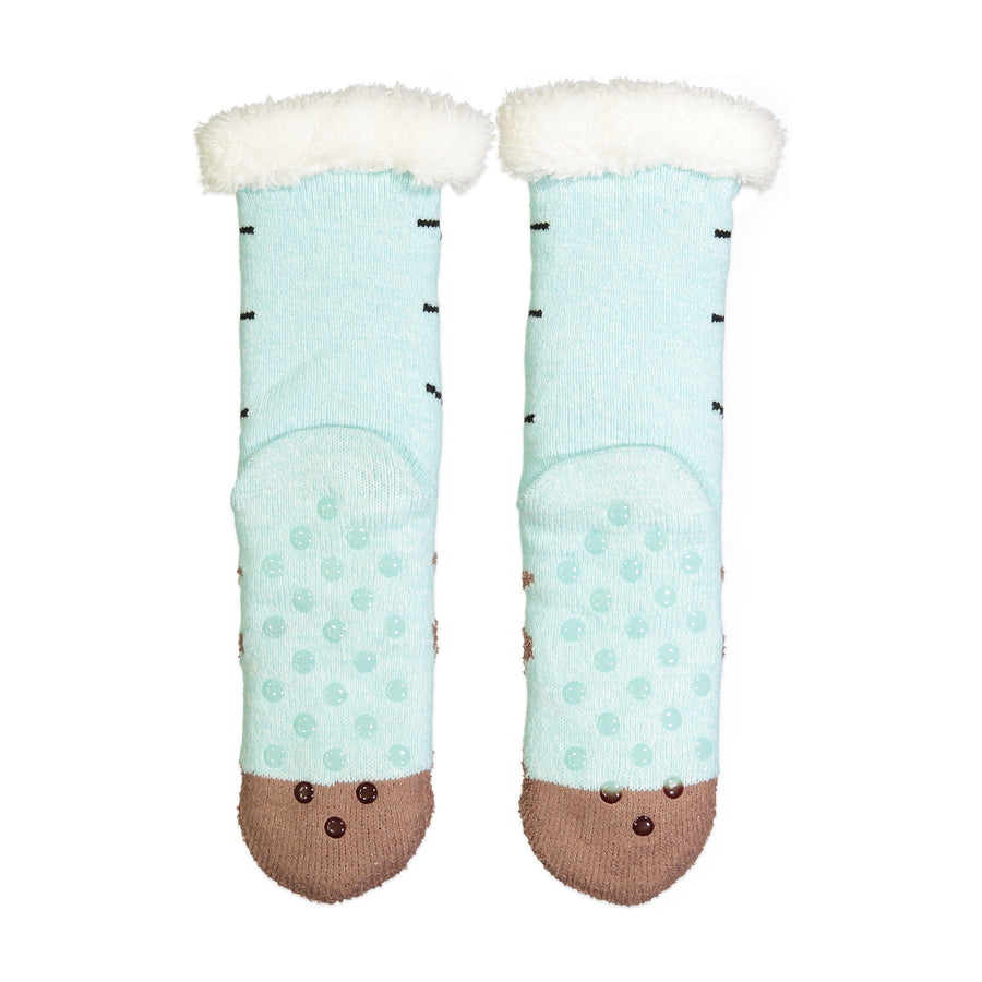 Women's Reindeer Slipper Sock with Sherpa Lining