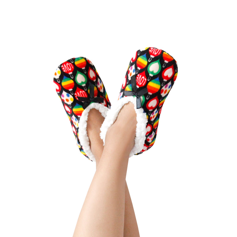 Women's Christmas Ornaments Print Stretchy Holiday Slipper Socks