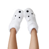 Women's Cozy Holiday Knit Slipper Socks with Polar Bear Face and Sherpa Lining