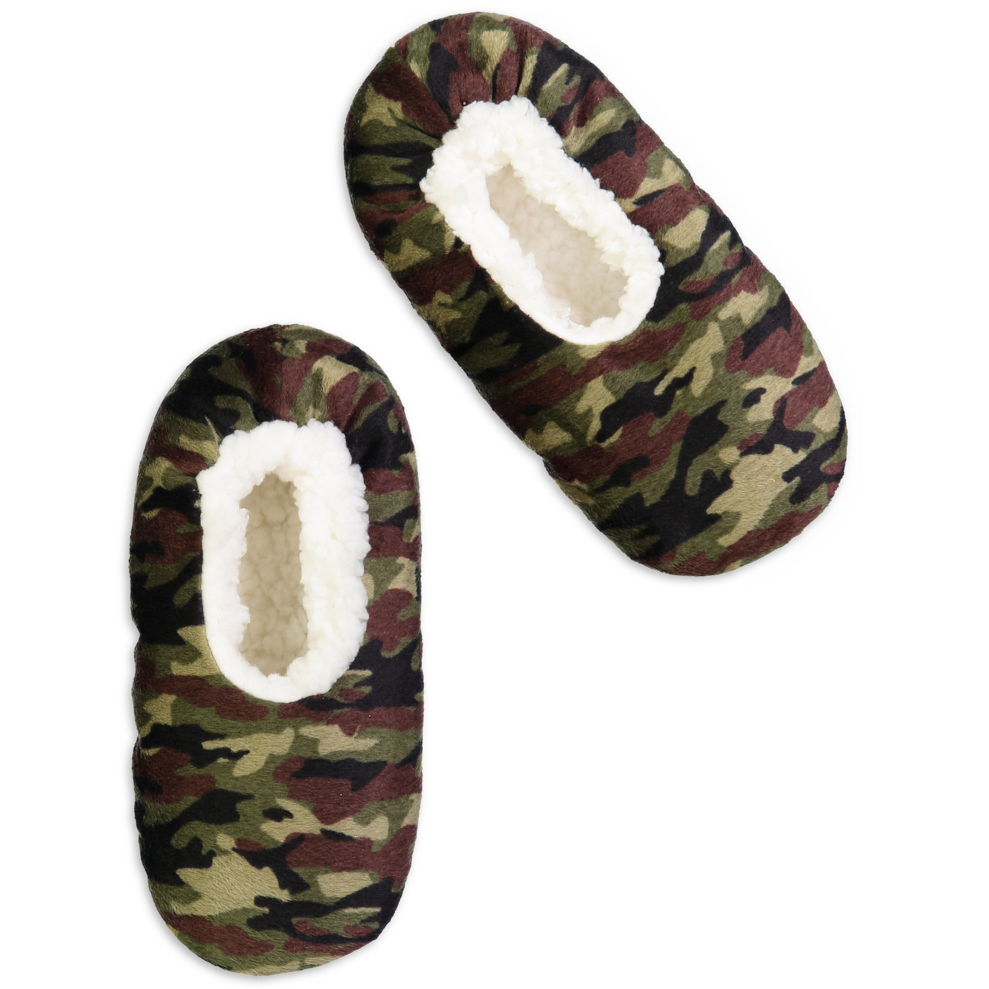 Kids Camo Print Slipper Sock