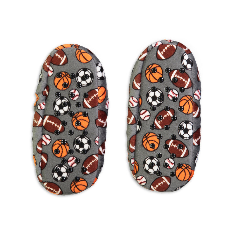 Kids Sports Print Slipper Sock