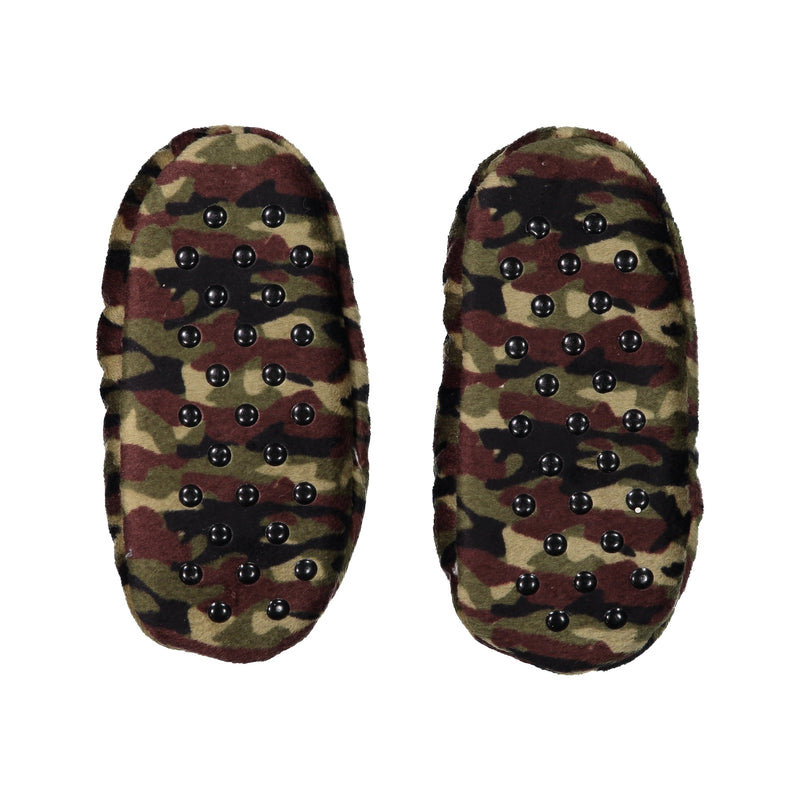 Kids Camo Stretchy Slipper Socks
