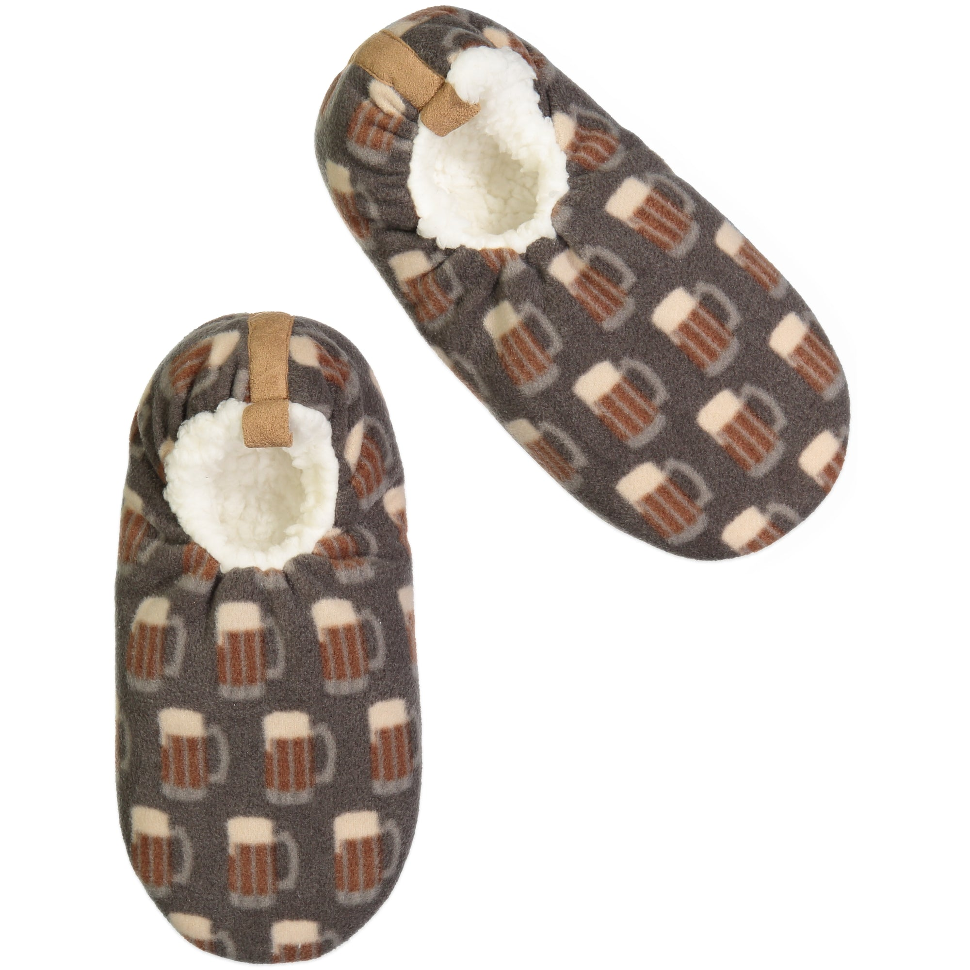 Men's Mug Print Slipper Sock - Fuzzy Babba