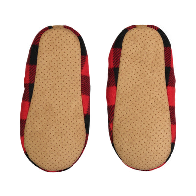 Men's Plaid Slipper Sock - Fuzzy Babba