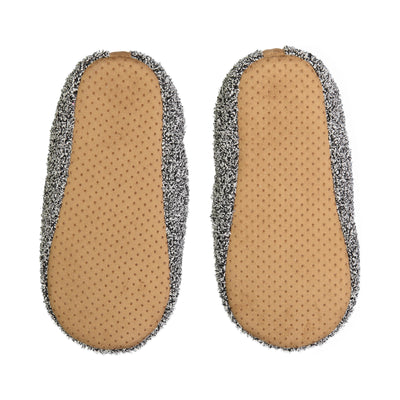 Men's Marled Black Slipper Sock - Fuzzy Babba