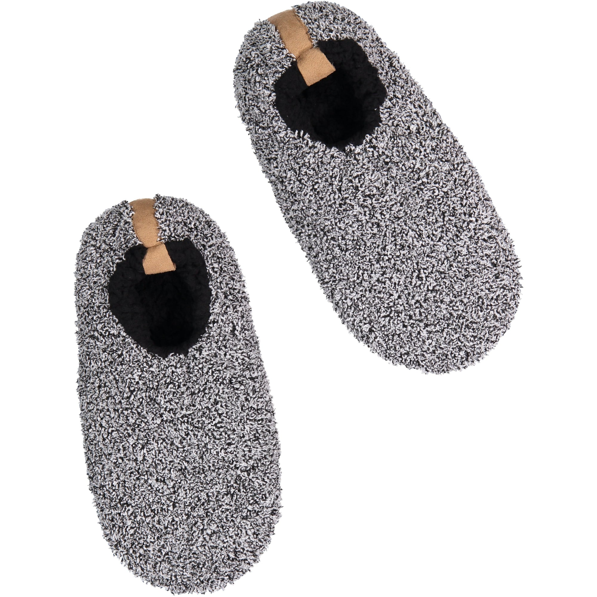 Men's Fluffy Gray Slipper Socks