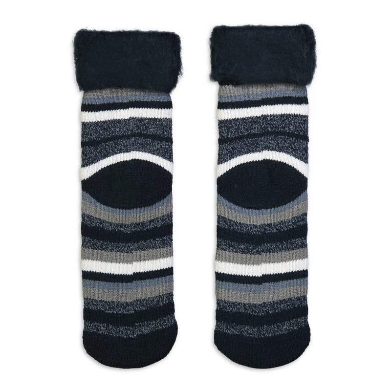 Unisex Striped Cozy Boot Sock