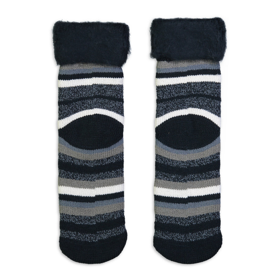 Men's Striped Cozy Boot Sock