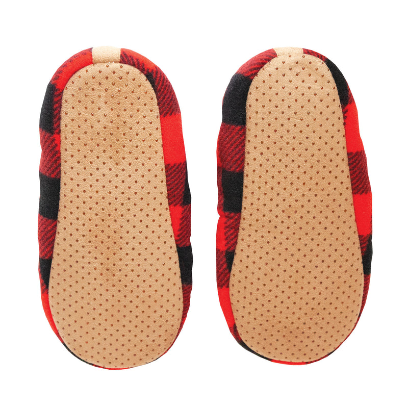 Men's Red Buffalo Check Slipper Socks