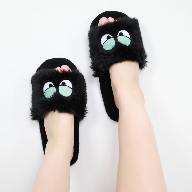 Women's Sassy Eyes Fluffy Slides - Fuzzy Babba