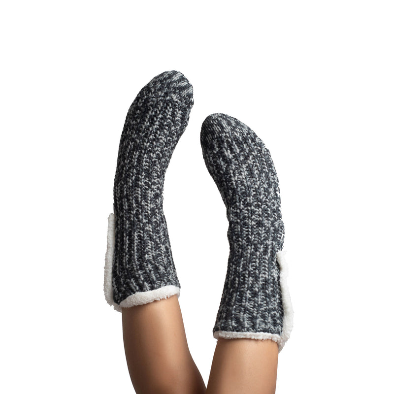 Women's Super Cozy Plush Knit Slipper Socks with Sherpa Lining