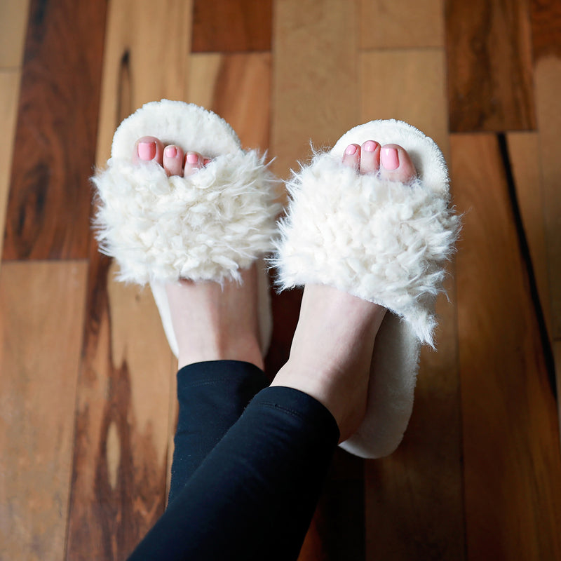 Women's Fluffy Slides