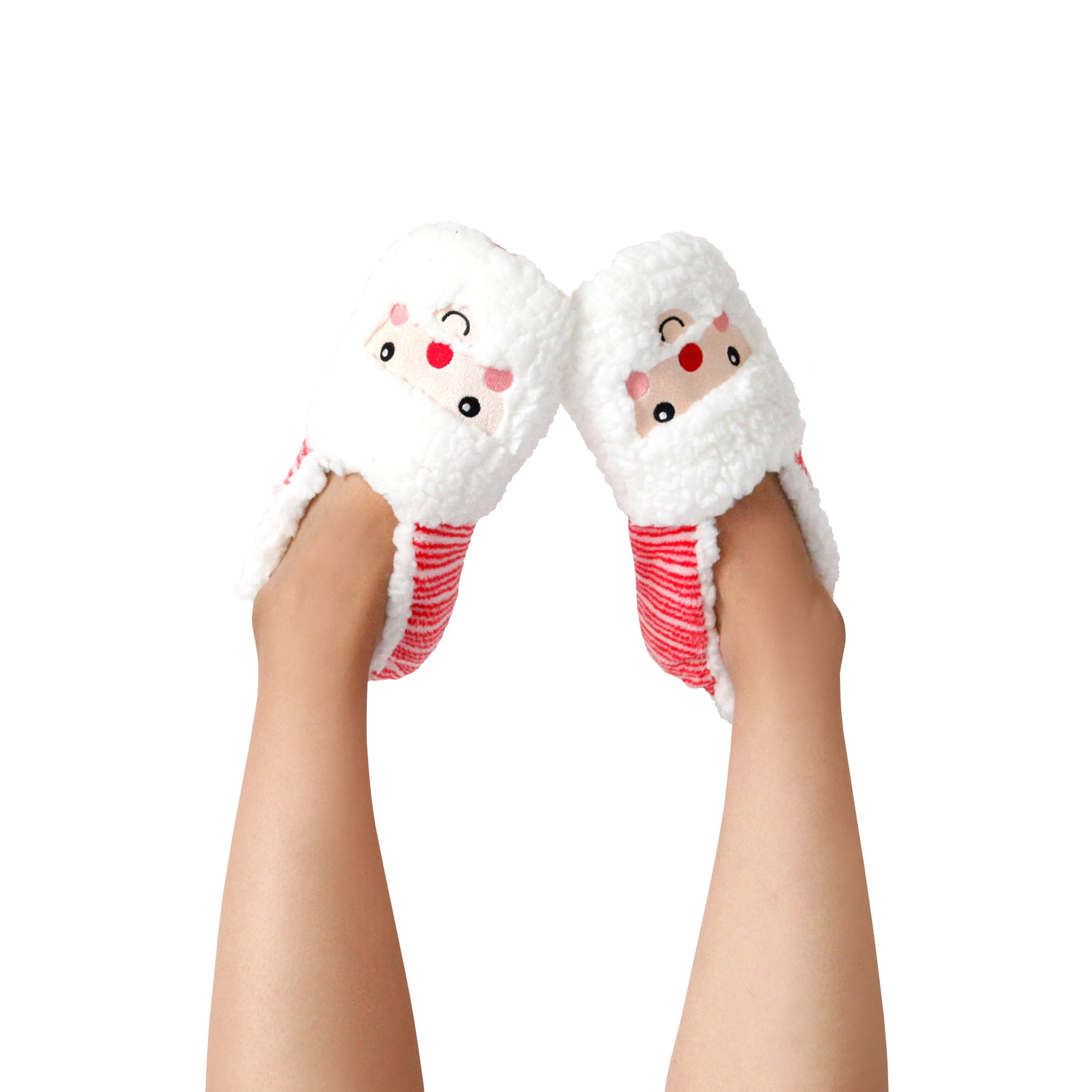 Women's Dreamy Santa Face Holiday Slipper Socks