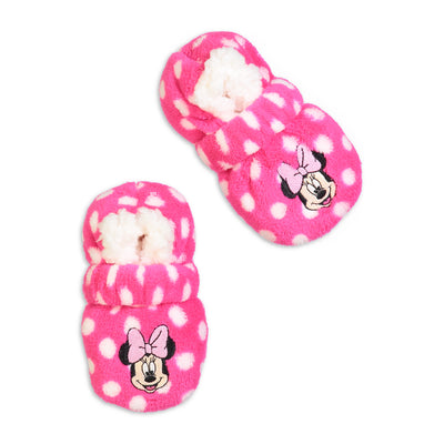 Infant/Toddler Minnie Mouse Polka Dot Fuzzy Babba with Safety Strap - Fuzzy Babba