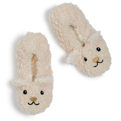 Girls Polar Bear Curly Yarn Soft Slipper - Fuzzy Babba
