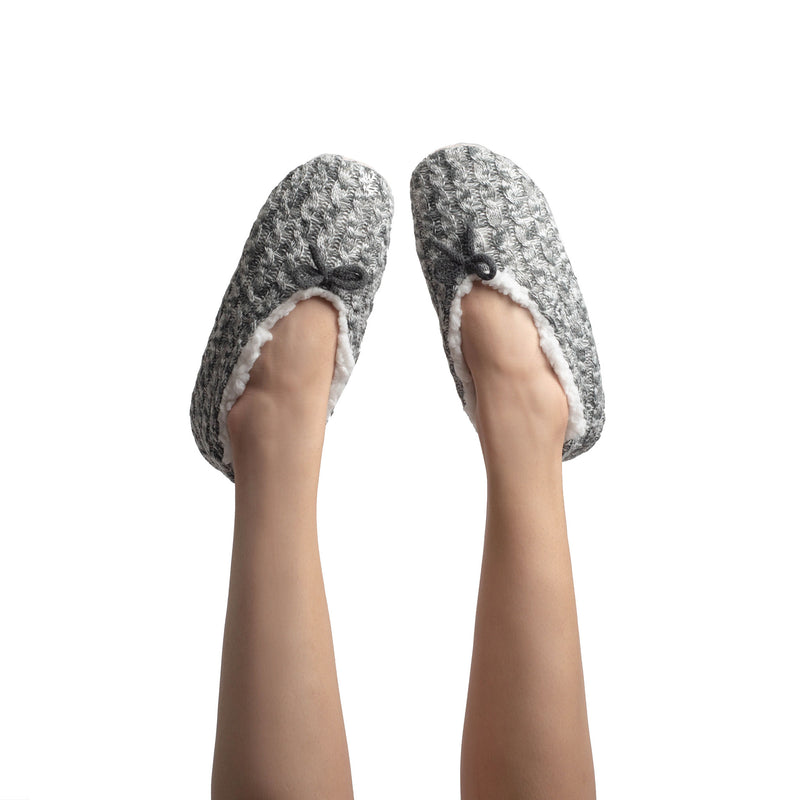 Women's Fluffy Cable Knit Slipper Socks