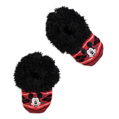 Infant/Toddler Mickey Mouse Knit Slipper Sock - Fuzzy Babba