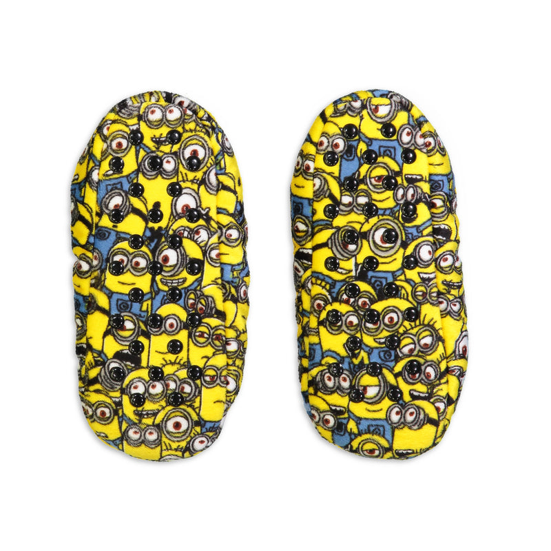 Kids Despicable Me Minion Print Slipper Sock