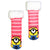 Kids Despicable Me Minion Cozy Striped Slipper Sock