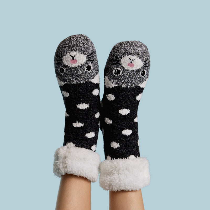 Women's Kitty Cozy Warmer™ Slipper Sock