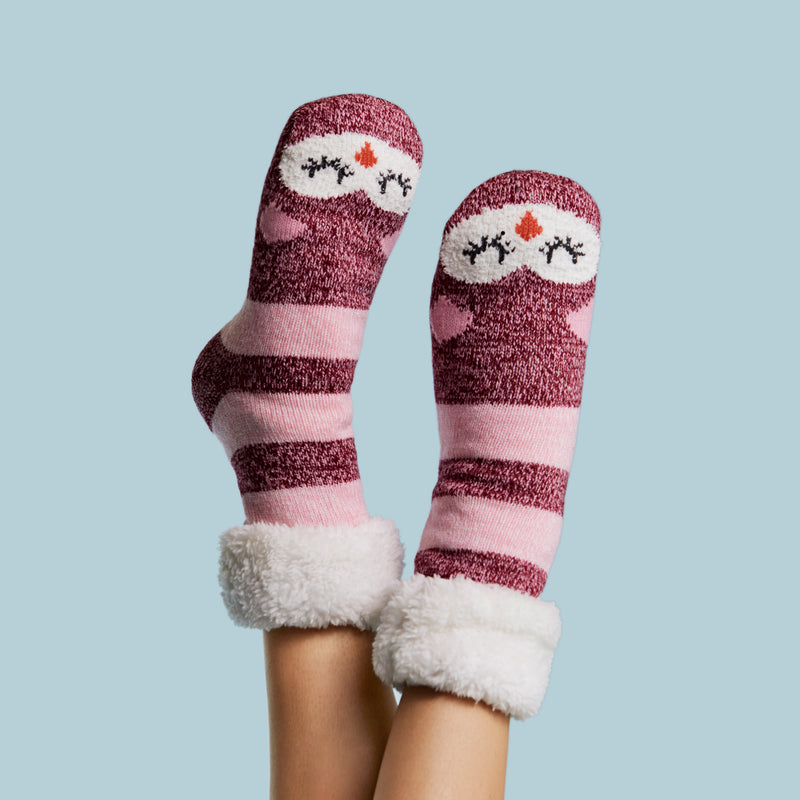 Women's Sleepy Kitty Cozy Warmer™ Slipper Sock
