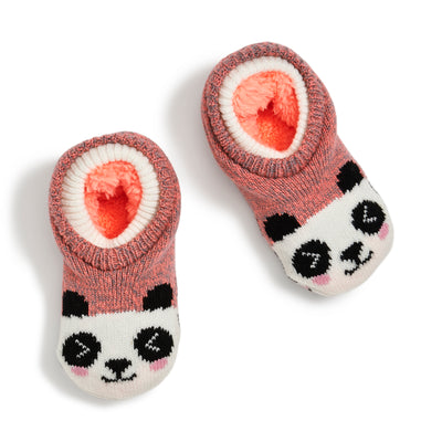 Girls Panda Double Cuffer - Fuzzy Babba