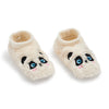 Girls Panda Furry Footable - Fuzzy Babba