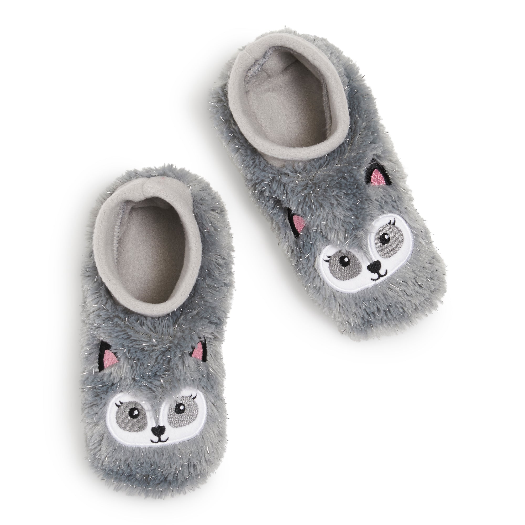 Girls Raccoon Furry Footable - Fuzzy Babba