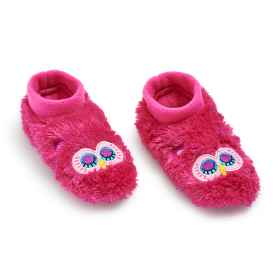 Girls Owl Furry Footable - Fuzzy Babba