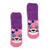 Girls Kitty Recliner Slipper Sock - Fuzzy Babba