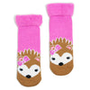 Girls Cute Hedgehog Recliner Slipper Sock - Fuzzy Babba