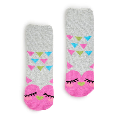 Girls Owl Recliner Slipper Sock - Fuzzy Babba