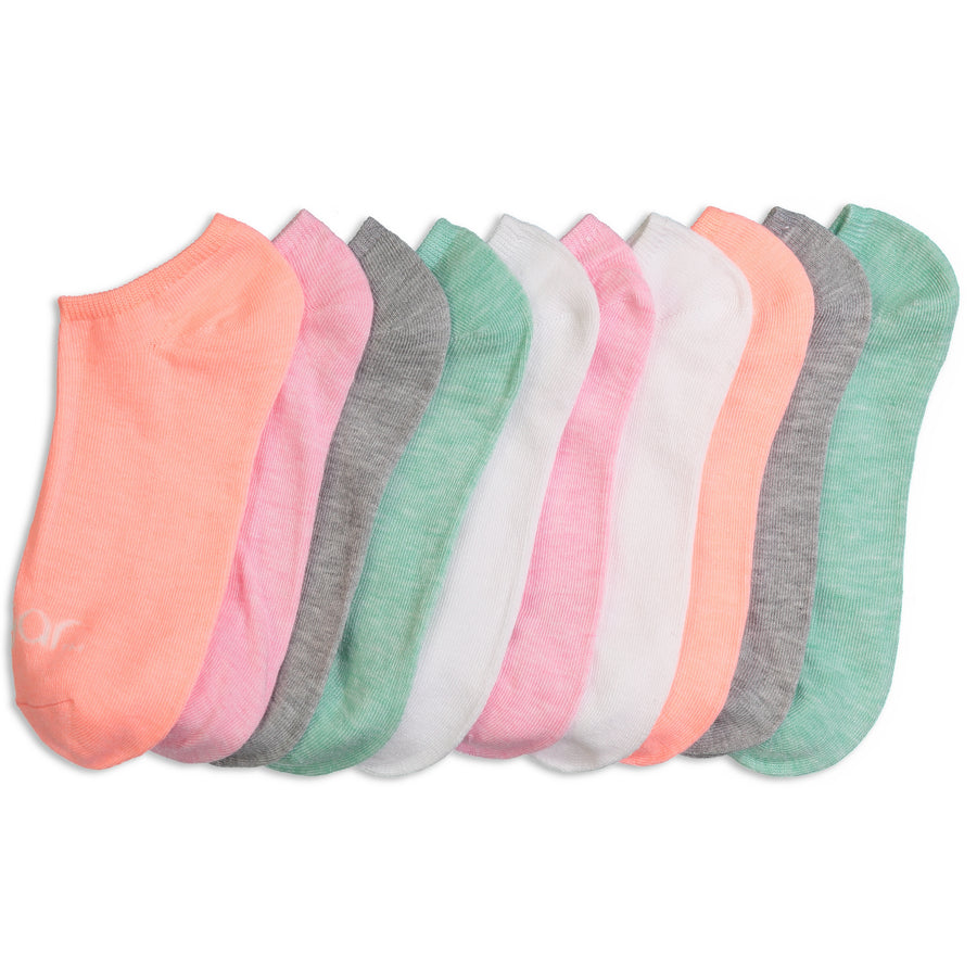 Women's 10-pack Pastel No-Show Socks