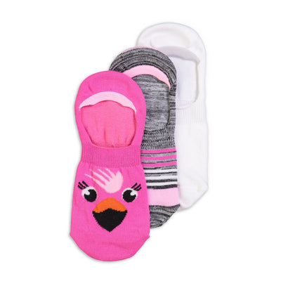 Women's 3-pack Flamingo Invisible Socks - Fuzzy Babba