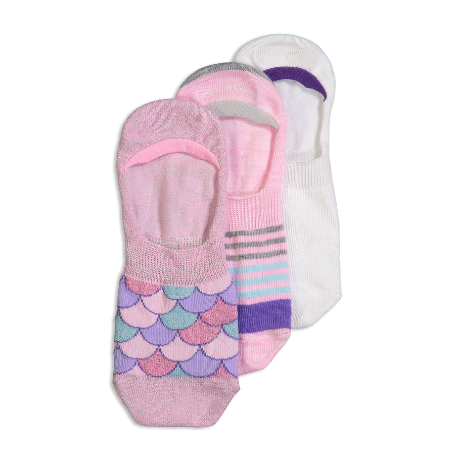 Women's 3-pack Pastel Mermaid Invisible Socks