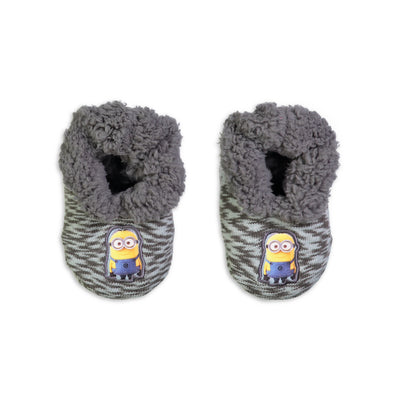 Infant/Toddler Despicable Me Minion Knit Slipper Sock - Fuzzy Babba