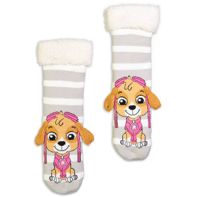 Kids Paw Patrol Skye Slipper Sock with 3D Faux Fur - Fuzzy Babba