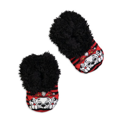 Infant/Toddler Paw Patrol Marshall Knit Slipper Sock - Fuzzy Babba