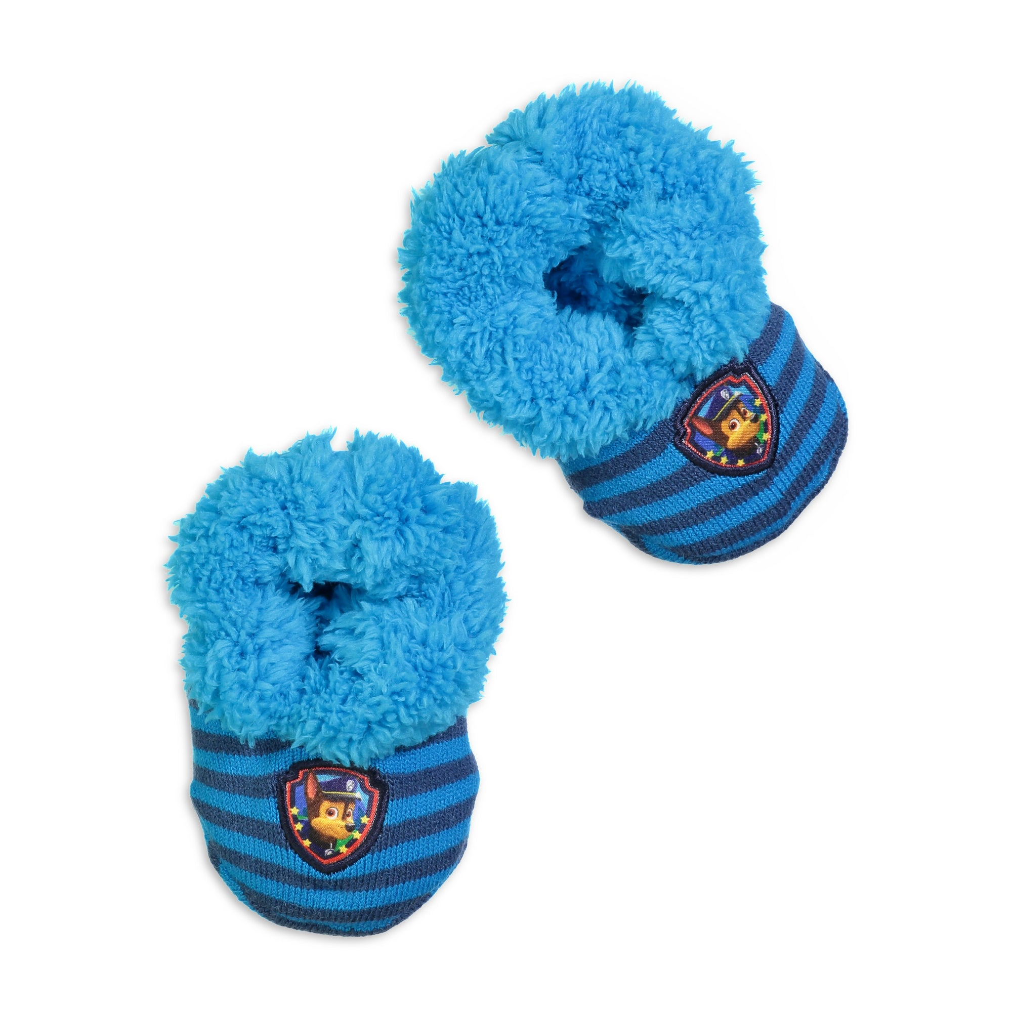 Infant/Toddler Paw Patrol Chase Knit Slipper Sock - Fuzzy Babba